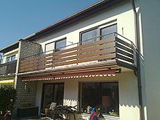 Balkonbretter Aluminium und Kunststoff